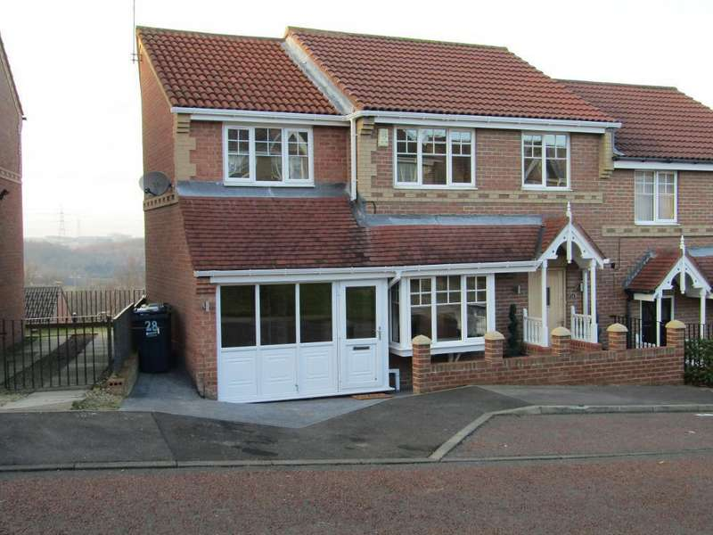 4 Bedrooms Semi Detached House for sale in Morgans Way, Blaydon, Blaydon, Tyne Wear, NE21 4HN