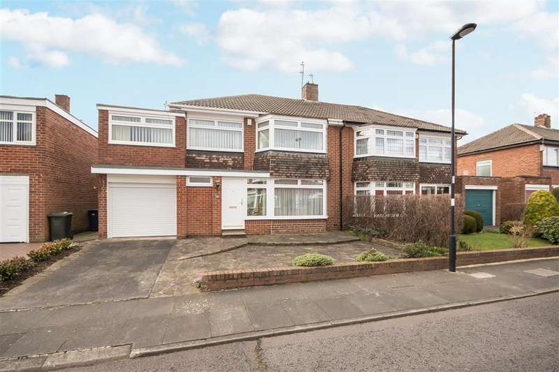 4 Bedrooms Semi Detached House for sale in 41 Easedale Avenue, Melton Park, Gosforth, Newcastle upon Tyne NE3