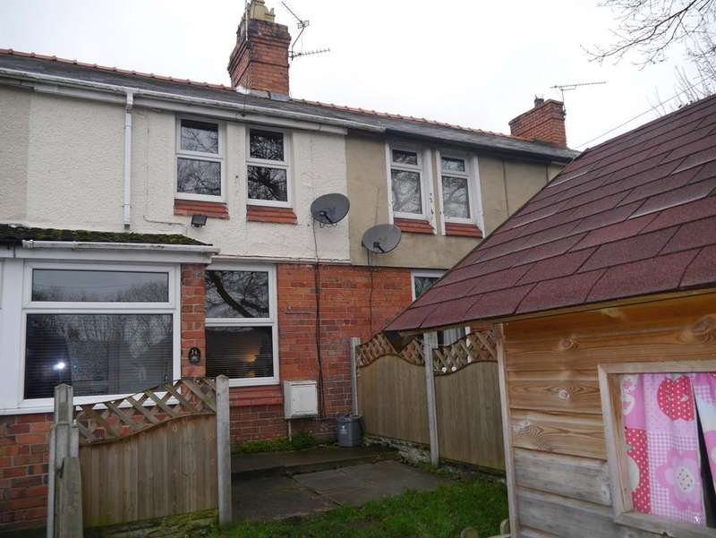 2 Bedrooms Terraced House for sale in Glasfryn Terrace, Caego, Wrexham, LL11 6UD