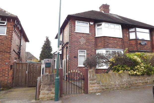 2 Bedrooms Semi Detached House for sale in Hadbury Road, Basford, Nottingham, NG5