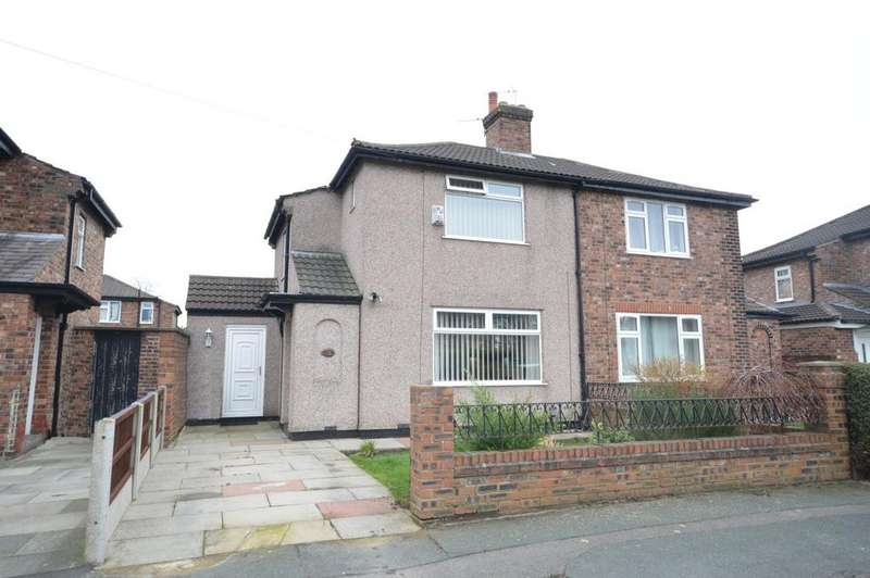 2 Bedrooms Semi Detached House for sale in Plinston Avenue, Warrington