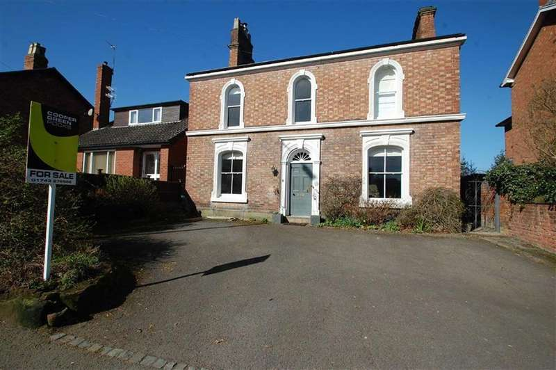 4 Bedrooms Detached House for sale in Belle Vue Road, Belle Vue, Shrewsbury