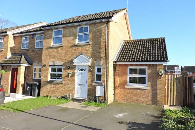 3 Bedrooms End Of Terrace House for sale in Villiers Close, Luton, Bedfordshire, LU4 9FR
