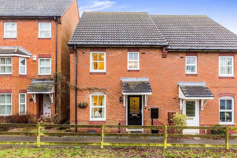 3 Bedrooms Semi Detached House for sale in Staples Drive, Coalville, LE67