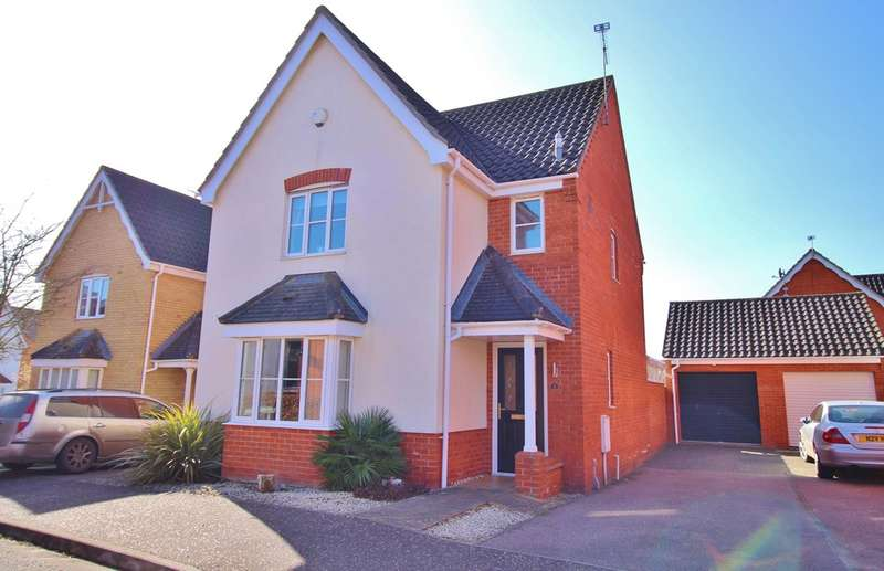 3 Bedrooms Detached House for sale in Luscombe Way, Rackheath