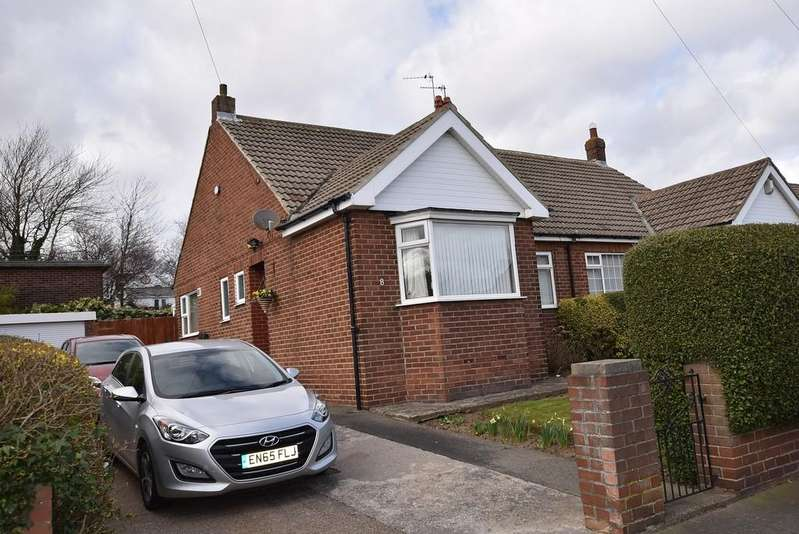 2 Bedrooms Semi Detached Bungalow for sale in Charter Drive, East Herrington