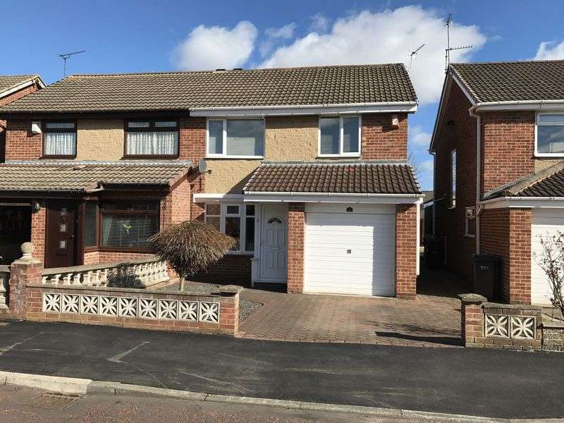 3 Bedrooms Semi Detached House for sale in Thropton Close, Wardley