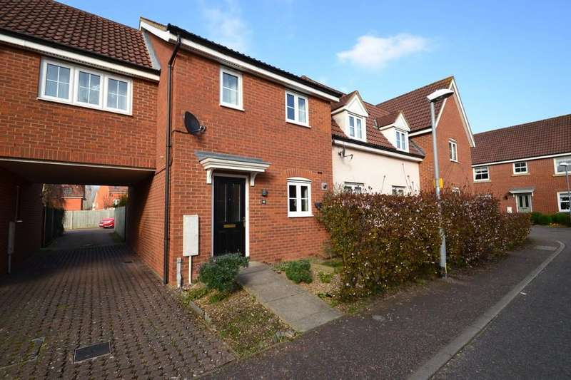 2 Bedrooms End Of Terrace House for sale in Windsor Park Gardens, Sprowston