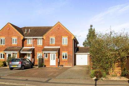 3 Bedrooms Semi Detached House for sale in Portia Way, Heathcote, Warwick, .
