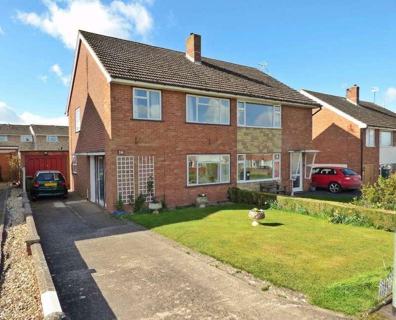 3 Bedrooms Semi Detached House for sale in Hewitt Avenue, Fayre Oaks, Kings Acre, Hereford