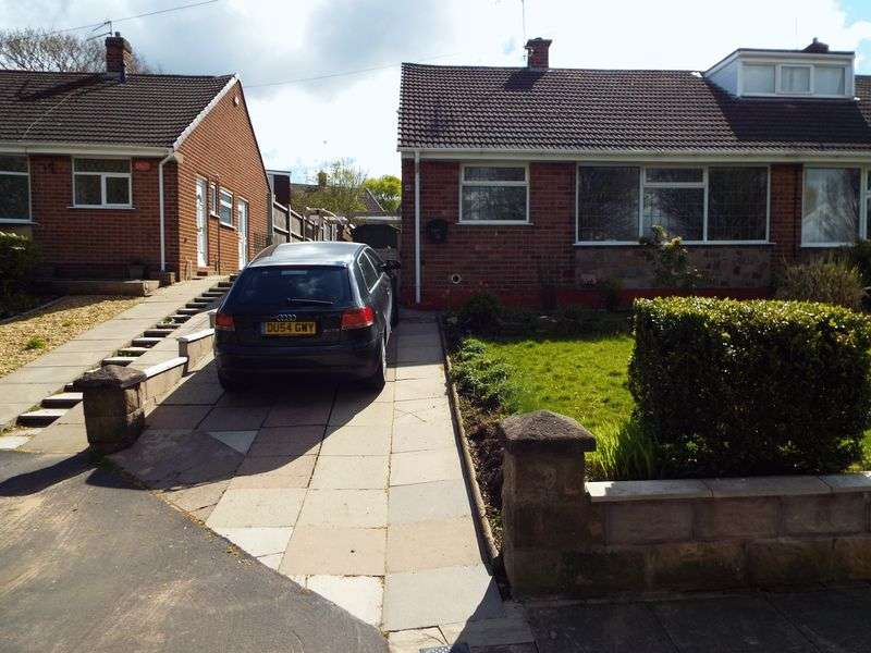 2 Bedrooms Semi Detached Bungalow for sale in Danehill Grove, Hanford, Stoke-On-Trent