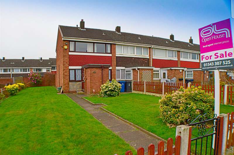 3 Bedrooms End Of Terrace House for sale in Keepers Close, Burntwood