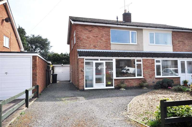 3 Bedrooms Semi Detached House for sale in Townend Close, Asfordby, Melton Mowbray