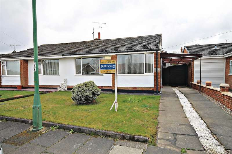 2 Bedrooms Semi Detached Bungalow for sale in York crescent, Newton Hall, Durham
