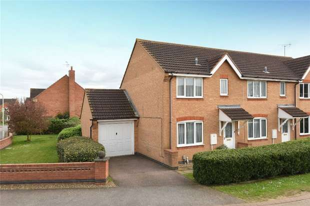3 Bedrooms End Of Terrace House for sale in Waltham Drive, Elstow, Bedford
