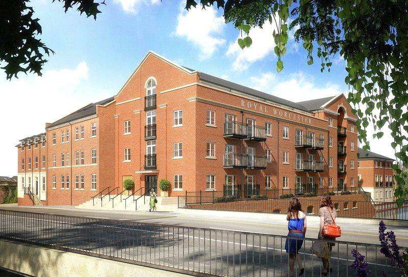 2 Bedrooms Flat for sale in The Waterside, Worcester, Worcestershire, WR1