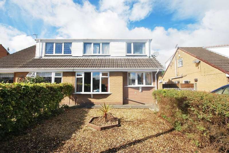 4 Bedrooms Semi Detached Bungalow for sale in Flaxfield Way, Kirkham, Preston, Lancashire, PR4 2AY