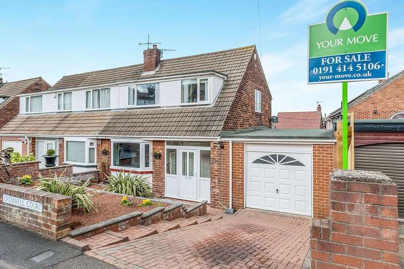 3 Bedrooms Semi Detached House for sale in Cromwell Court, Blaydon-On-Tyne, NE21