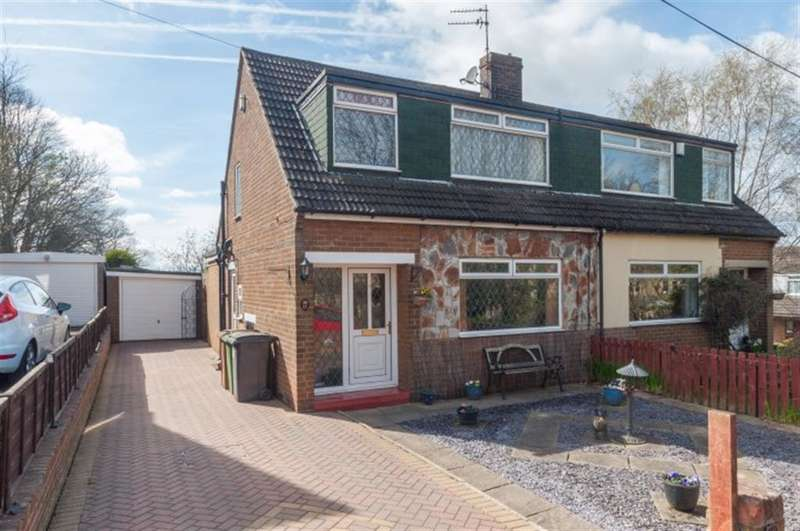 3 Bedrooms Semi Detached House for sale in Westroyd Gardens, Pudsey, LS28