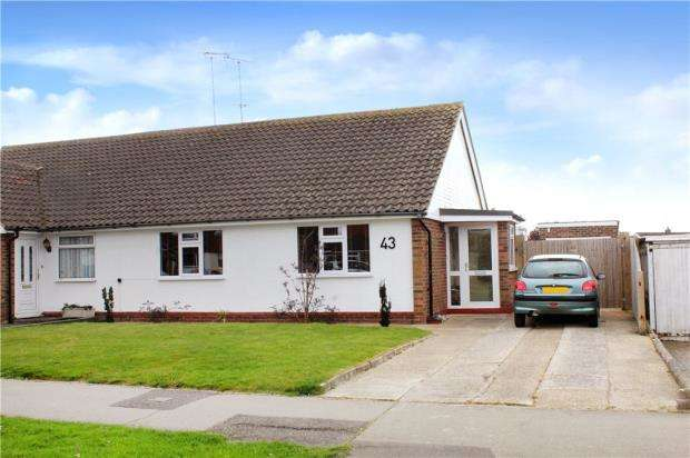 2 Bedrooms Semi Detached Bungalow for sale in Highdown Drive, Littlehampton, West Sussex, BN17