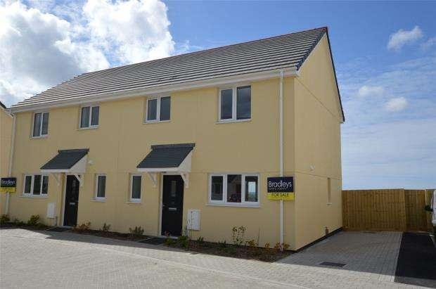 3 Bedrooms Semi Detached House for sale in Lowen Praze, Fraddon, St. Columb, Cornwall