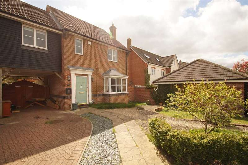 3 Bedrooms Link Detached House for sale in Wren Close, Stanway, Colchester
