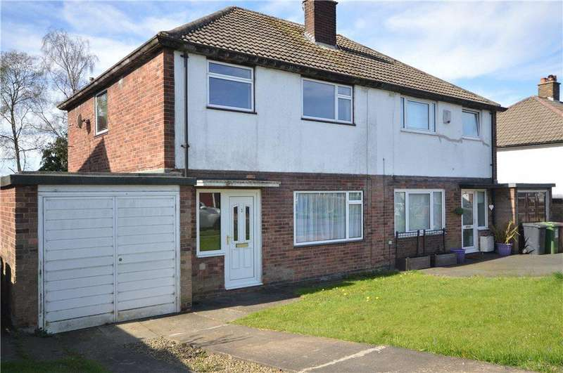 3 Bedrooms Semi Detached House for sale in Moseley Wood Green, Cookridge, Leeds