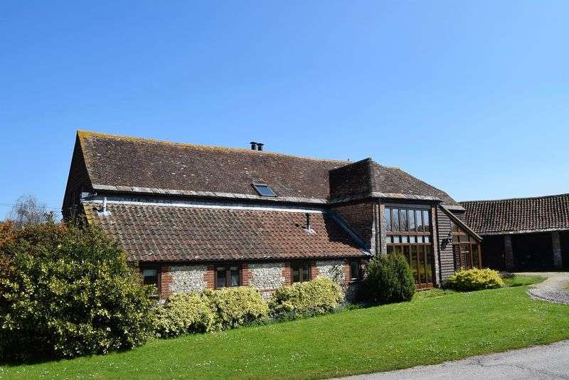 4 Bedrooms Detached House for sale in Grade II Listed Barn with 2 Cottages plus outbuildings and paddock.