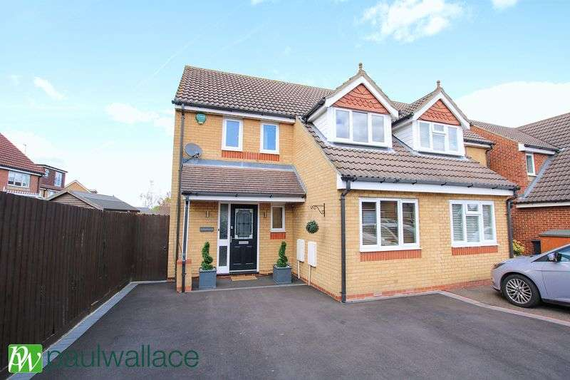 3 Bedrooms Semi Detached House for sale in Shambrook Road, West Cheshunt