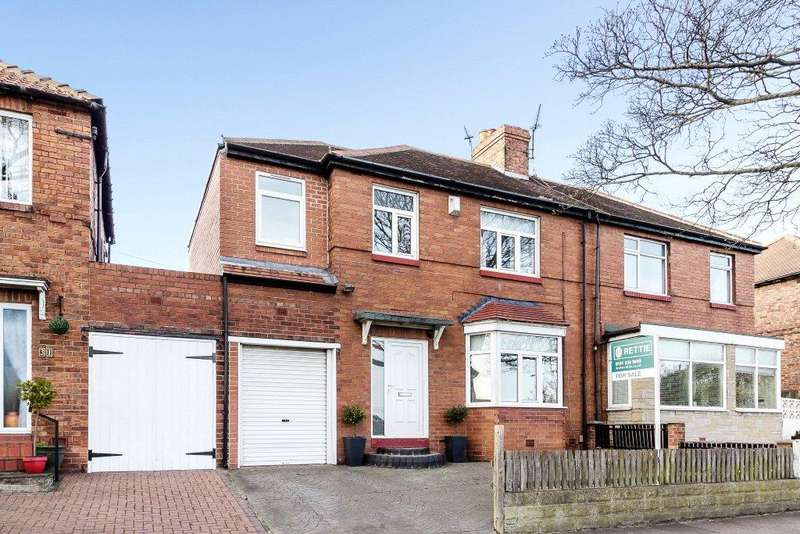 4 Bedrooms Semi Detached House for sale in Coast Road, High Heaton, Newcastle Upon Tyne, Tyne Wear