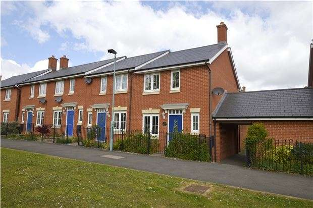 3 Bedrooms End Of Terrace House for sale in Jack Russell Close, Stroud, Gloucestershire, GL5 4EH