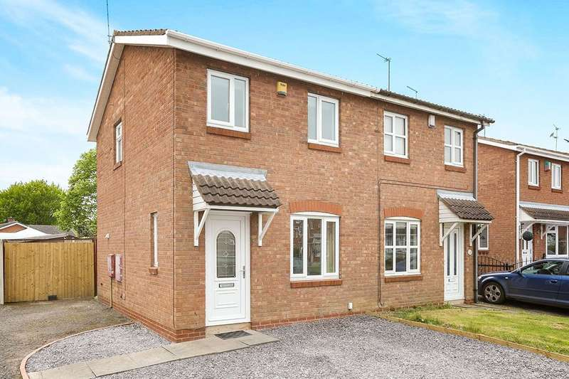 2 Bedrooms Semi Detached House for sale in Gibson Road, Perton, Wolverhampton, WV6