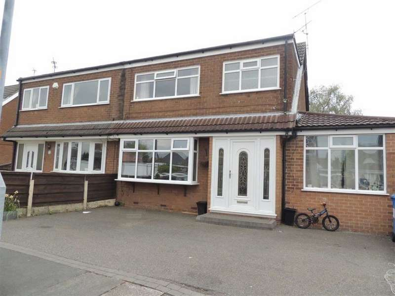 3 Bedrooms Semi Detached House for sale in Clarkson Close, Denton, Manchester