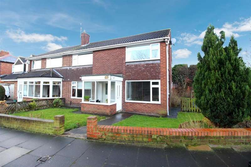 4 Bedrooms Semi Detached House for sale in Otterburn Avenue, South Wellfield, Whitley Bay