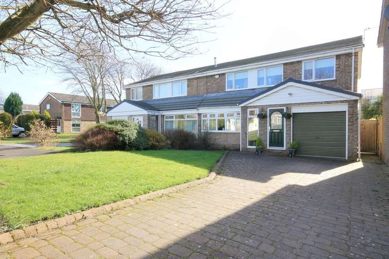 4 Bedrooms Semi Detached House for sale in Canterbury Close, Great Lumley, DH3
