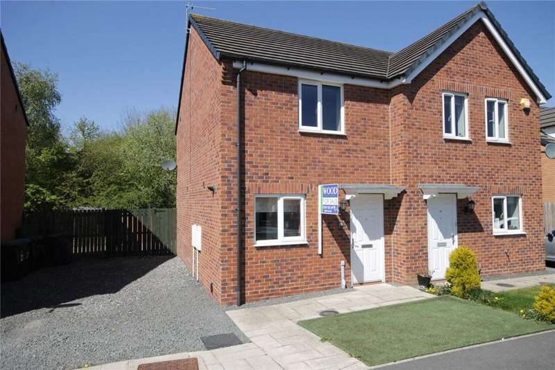 2 Bedrooms Semi Detached House for sale in Spiro Court, Templetown, Consett, DH8