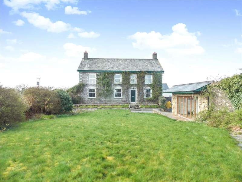5 Bedrooms Detached House for sale in Liftondown, Lifton, Devon