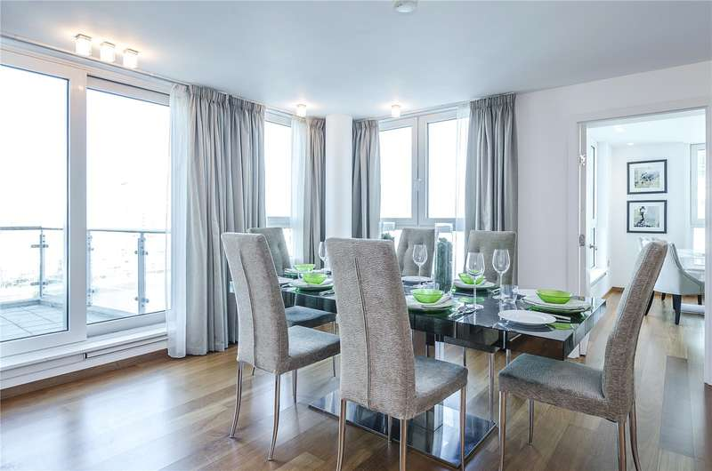 3 Bedrooms Flat for sale in Kestrel House, St. George Wharf, London, SW8