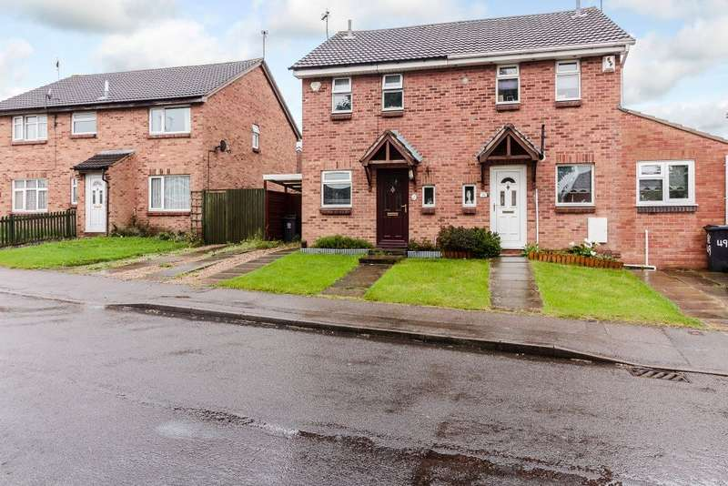 2 Bedrooms Semi Detached House for sale in Heatherbrook Road, Anstey Heights , Leicestershire LE41AL