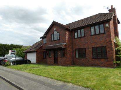 4 Bedrooms Detached House for sale in Newlyn Gardens, Penketh, Warrington, Cheshire, WA5