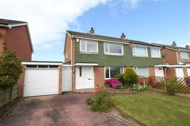 3 Bedrooms Semi Detached House for sale in Hether Drive, Lowry Hill, Carlisle, Cumbria, CA3 0ES
