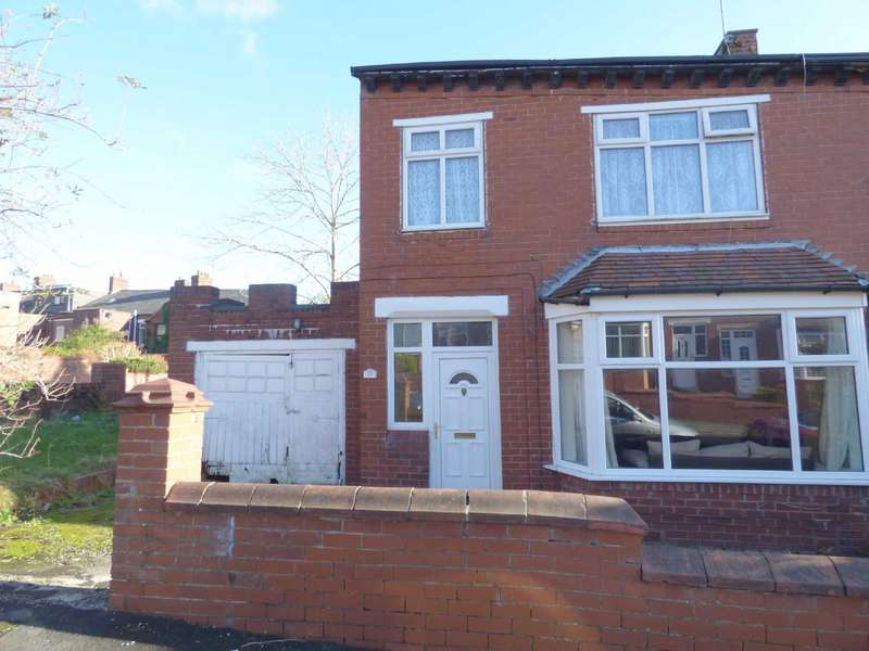 3 Bedrooms End Of Terrace House for sale in Cheviot Avenue, Coppice, Oldham, Lancashire, OL8