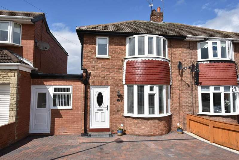 3 Bedrooms Semi Detached House for sale in Lunedale Avenue, Seaburn Dene