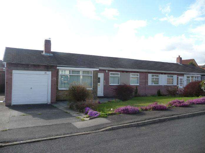 3 Bedrooms Semi Detached Bungalow for sale in Kip Hill, Stanley DH9