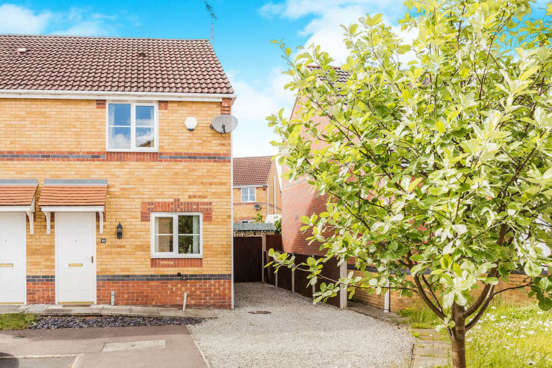 2 Bedrooms Semi Detached House for sale in Lathkill Court, North Wingfield, Chesterfield, S42