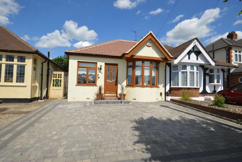 3 Bedrooms Semi Detached Bungalow for sale in Alma Avenue, Hornchurch, Essex, RM12