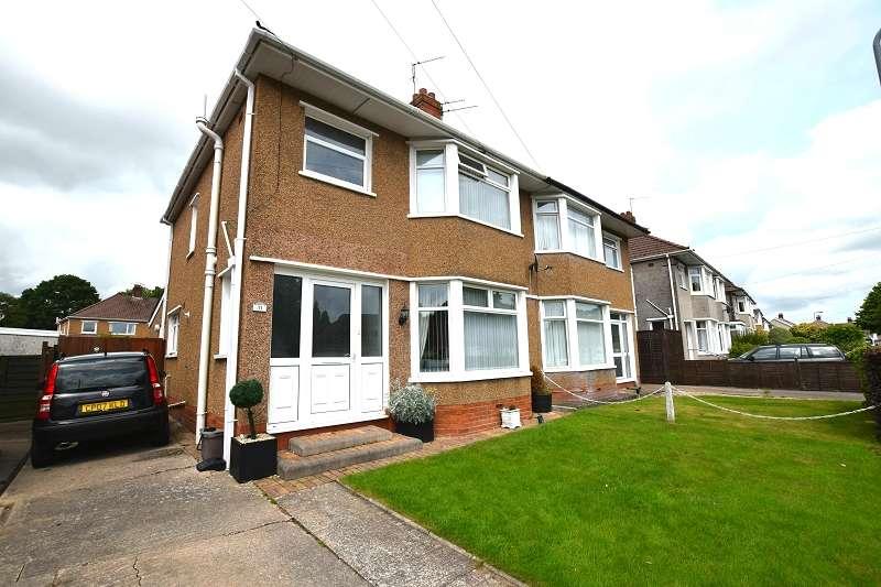 3 Bedrooms Semi Detached House for sale in Heol Cae-Rhys , Rhiwbina , Cardiff. CF14 6AP