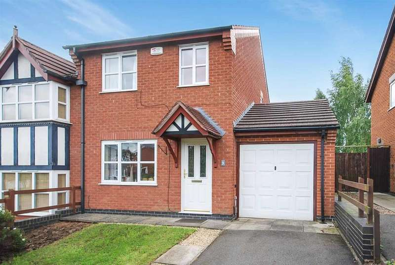 3 Bedrooms Semi Detached House for sale in Meadowsweet Close, Melton Mowbray