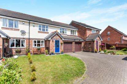 3 Bedrooms Terraced House for sale in Bucklow Gardens, Lymm, Cheshire
