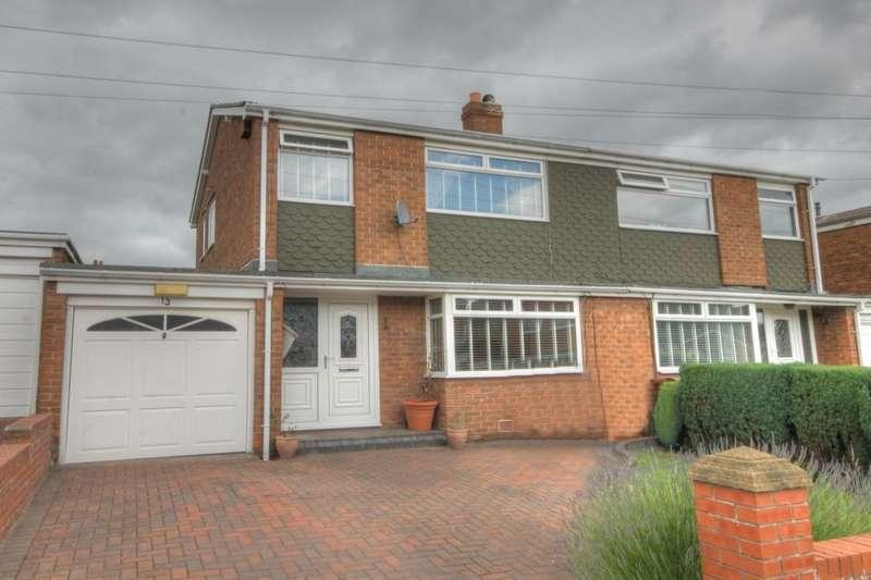 3 Bedrooms Semi Detached House for sale in Lockerbie Gardens, South West Denton, Newcastle Upon Tyne, NE15